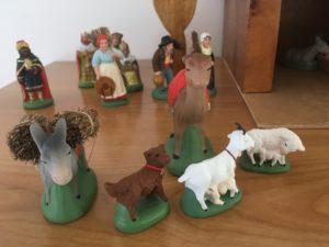 animaux creche santons