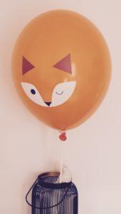 ballon 2 renard papa ratatam anniversaire