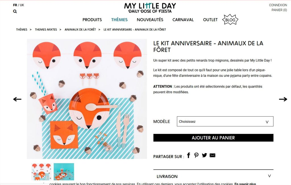 kit anniversaire renard ly little day papa ratatam
