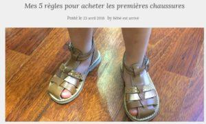 Bébé est arrivé chaussure choix enfant blog papa ratatam