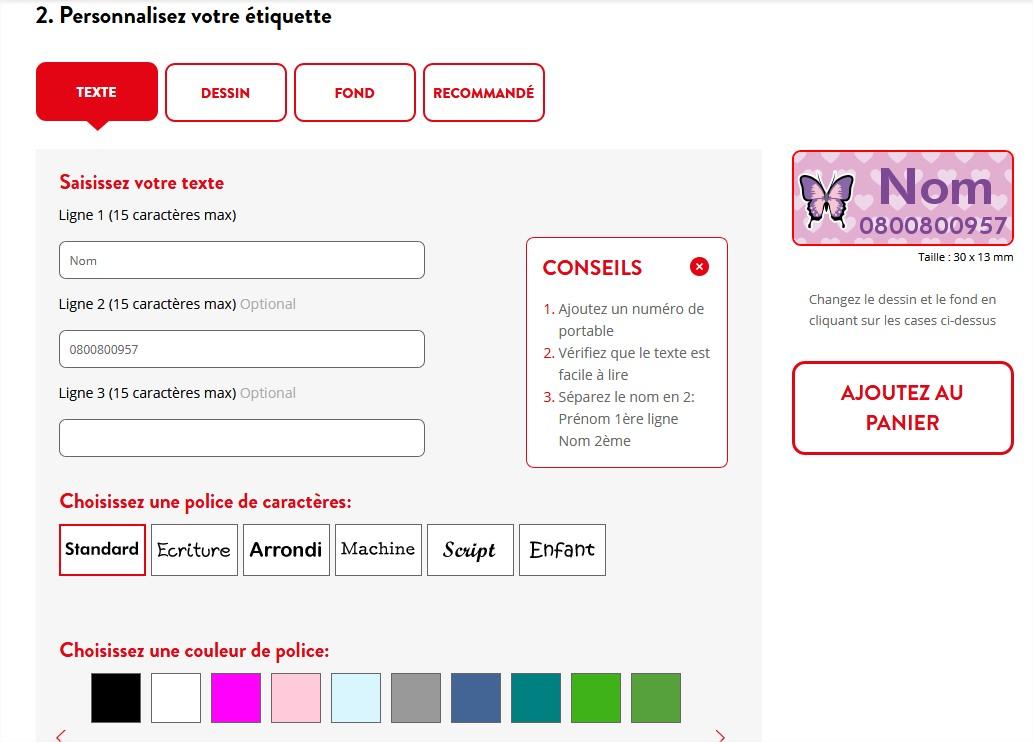 my nametages etiquettes personnalisable blog papa ratatam site web