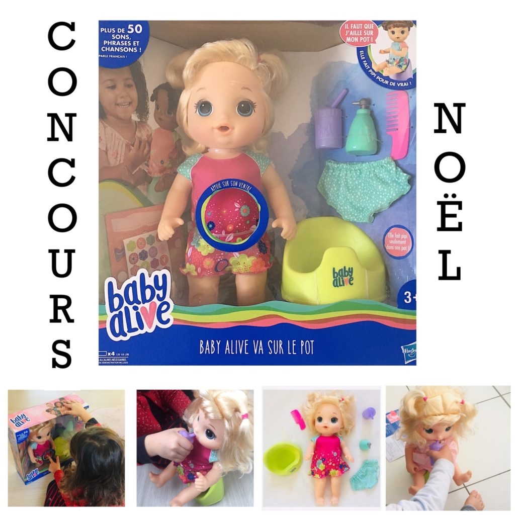 Concours HASBRO BABY ALIVE pot blog papa ratatam