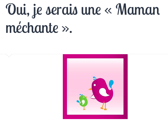 Maman mechante aïnoha et moi blog papa ratatam