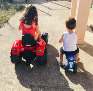 course remorque enfant garcon falk toys tracteur papa ratatam.