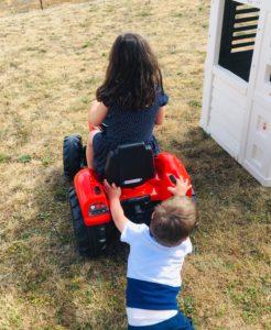 frere pousse papa ratatam tracteur falk toys
