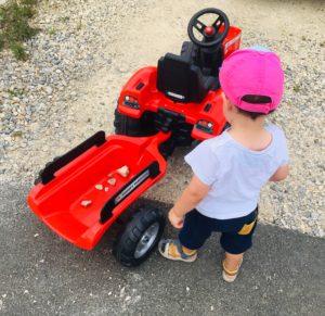 remorque cailloux remorque enfant garcon falk toys tracteur papa ratatam.