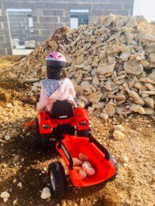 terrassement remorque enfant garcon falk toys tracteur papa ratatam.